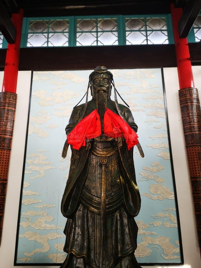 Het beroemde geschiedeniskarakter in het beeldhouwwerk van China stock afbeeldingen