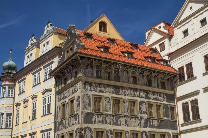 Het beroemde Huis de Minuut (Praag, Tsjechische Republiek) stock afbeeldingen