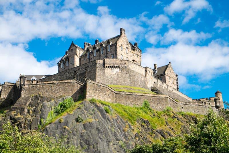 Het beroemde kasteel van Edinburgh royalty-vrije stock foto's