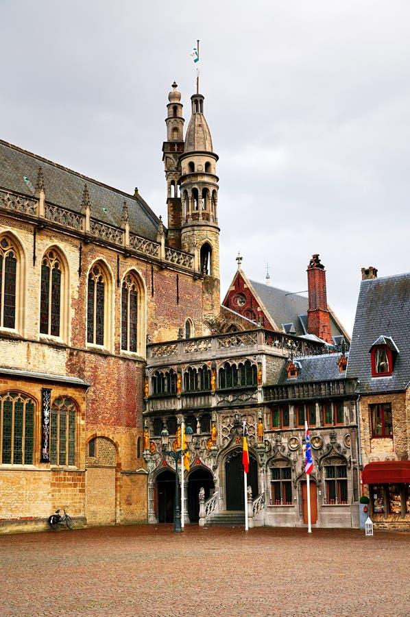 Basiliek van het Heilige Bloed, Brugge royalty-vrije stock fotografie