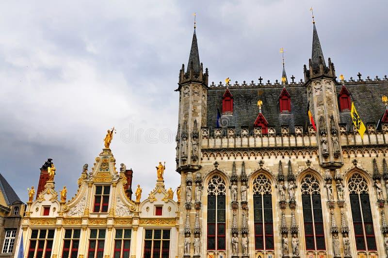 Het Vierkant van Burg, Brugge, België stock fotografie
