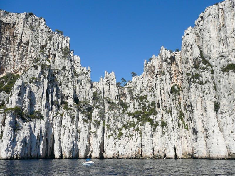 Het beroemde nationale park van Calanques van Cassissen dichtbij Marseille, binnen royalty-vrije stock foto