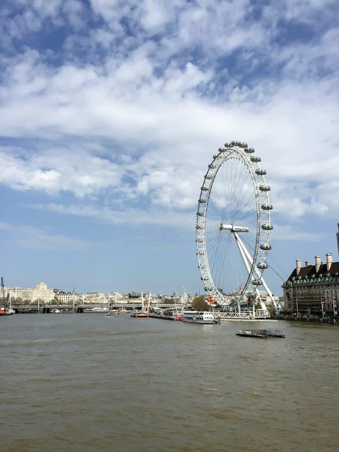 Het beroemde Reuzenrad, het oog van Londen, Londen, het UK royalty-vrije stock foto