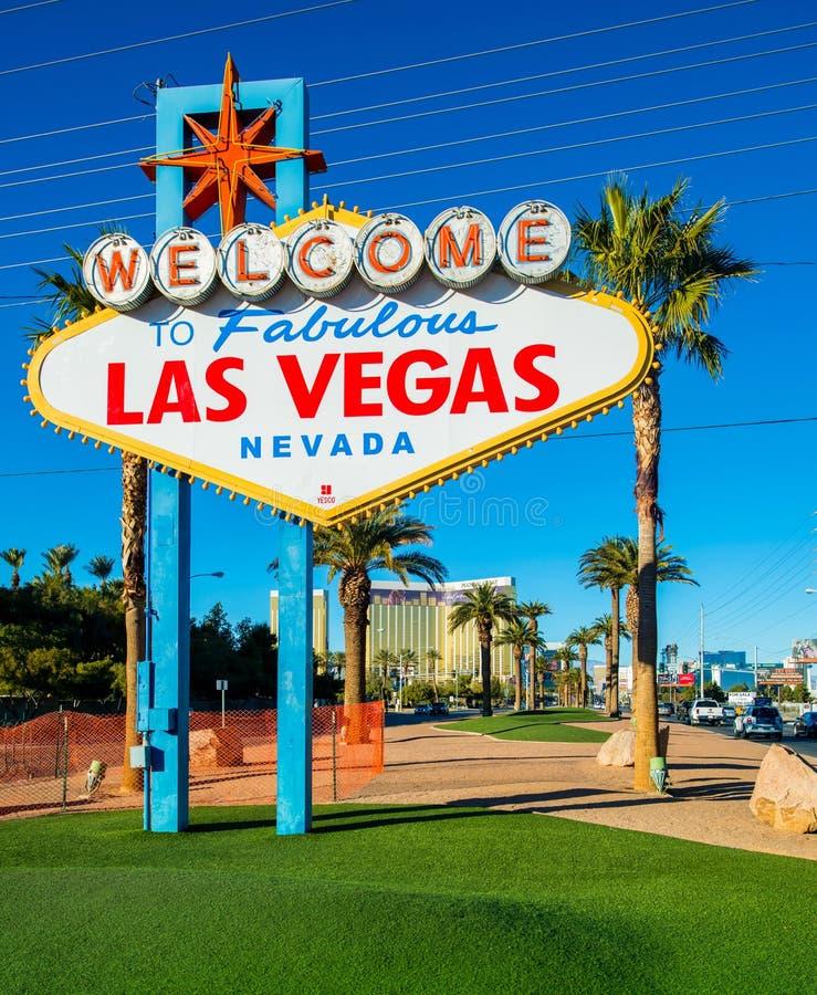 Het beroemde teken van Las Vegas stock foto