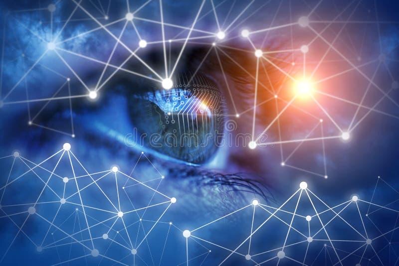 Het beschermen van en de controle van uw netwerk stock afbeeldingen