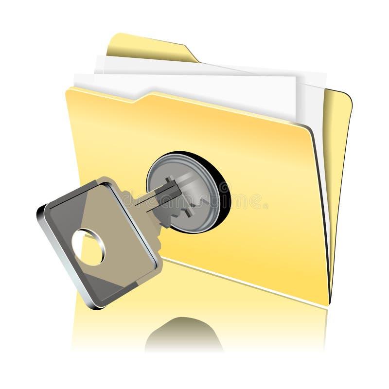 Het beschermen van het gegevenspictogram royalty-vrije illustratie