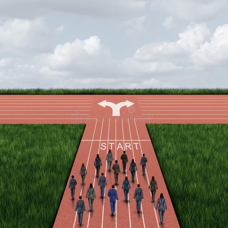 Het Besluit van de bedrijfrichting vector illustratie