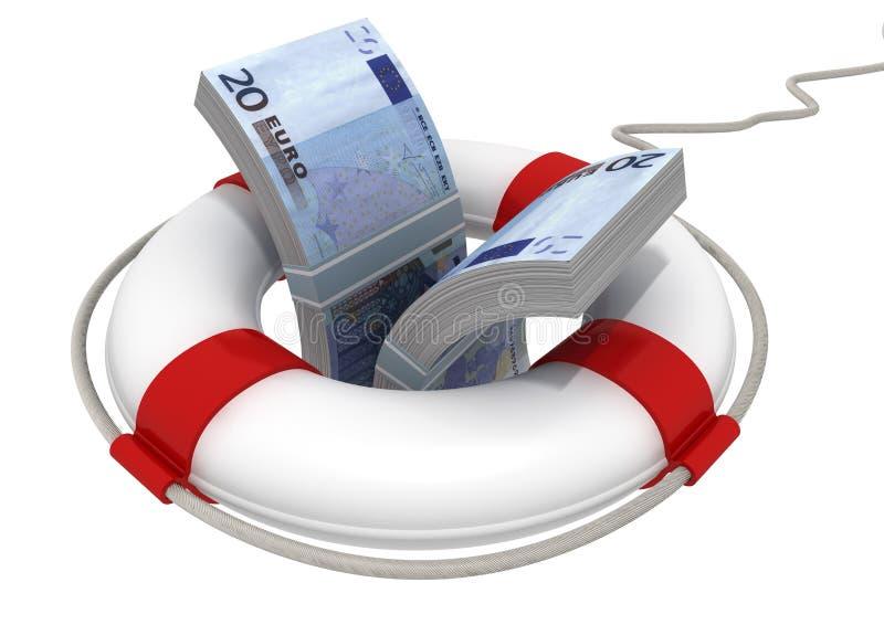 Het besparen van euro stock illustratie