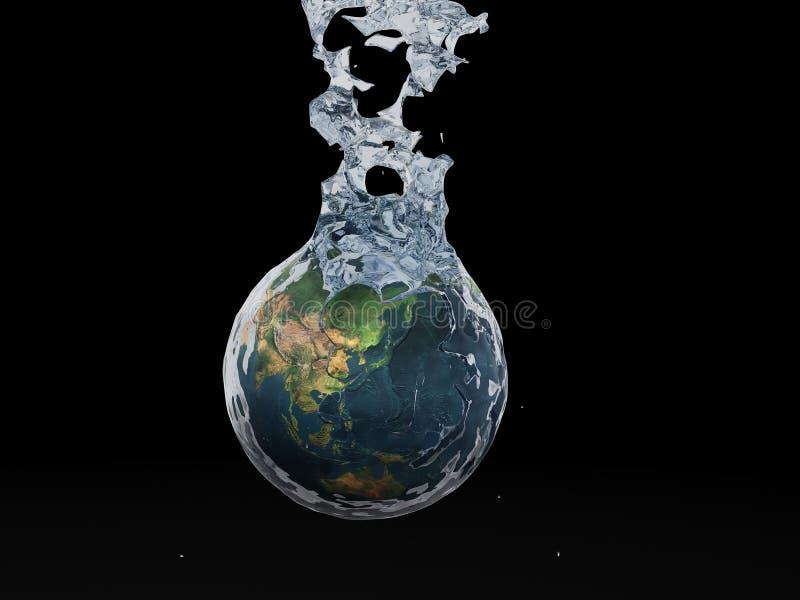 Het bespatten van de aarde stock afbeeldingen