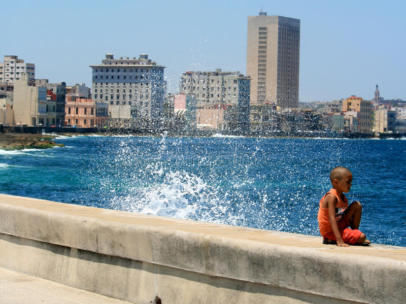 Havana, Cuba, Golf royalty-vrije stock fotografie