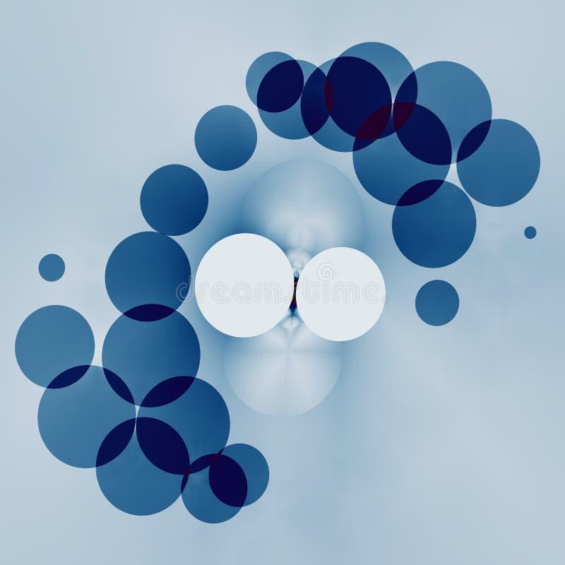 Het bespatten Waterabstractie op Blauwe Achtergrond Geometrisch abstract ontwerp Artistieke Fantasie Generatief Art. Geometrische royalty-vrije illustratie