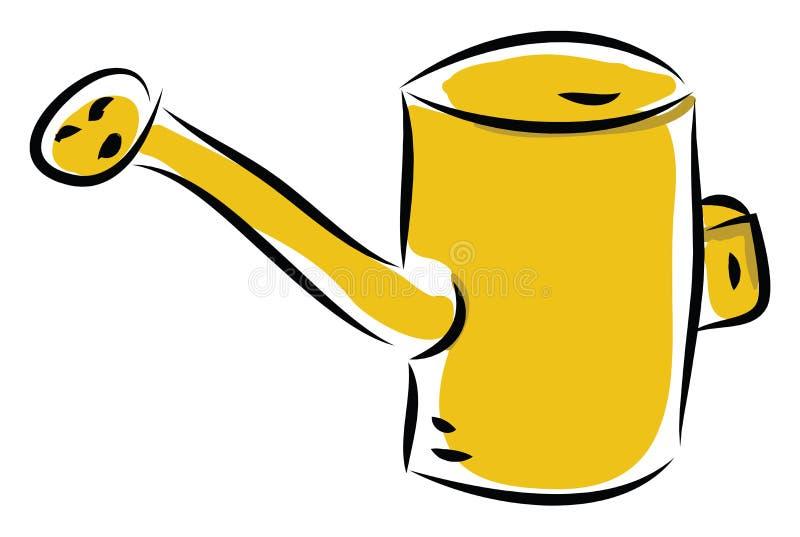 Het besproeien kan handgetekend ontwerp, illustratie, vector royalty-vrije illustratie