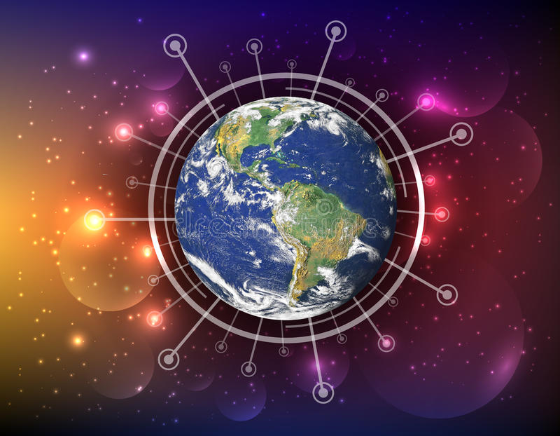 Het beste Concept van Internet globale zaken stock foto