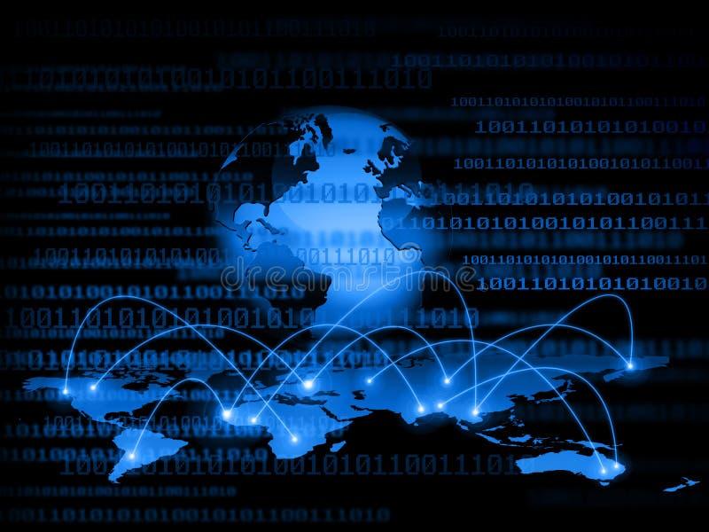 Het beste Concept van Internet globale zaken Bol royalty-vrije stock foto's