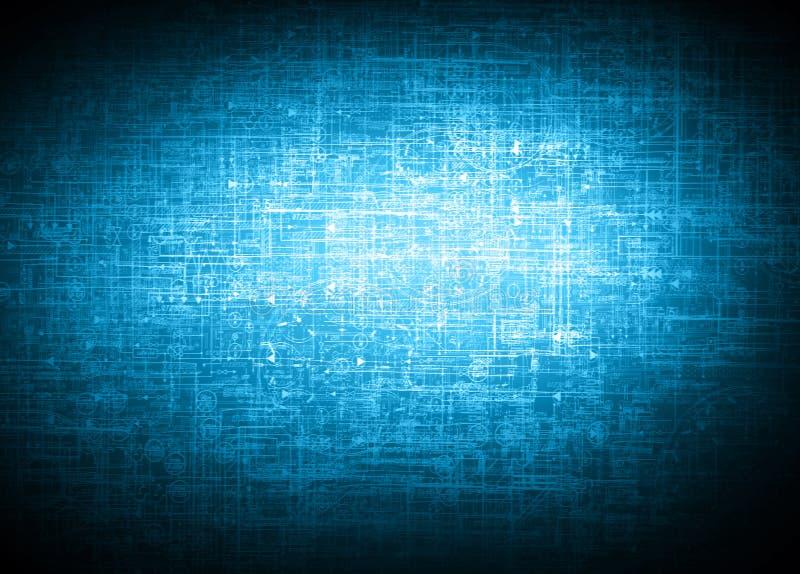 Het beste Concept van Internet globale zaken Technologische achtergrond, symbolen WiFi, van Internet, mobiele televisie, royalty-vrije stock foto