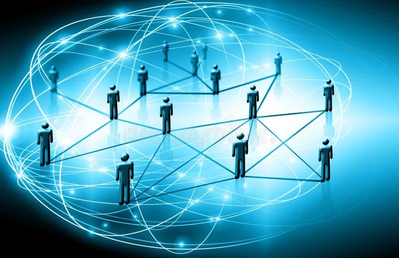 Het beste Concept van Internet globale zaken Technologische achtergrond, symbolen WiFi, van Internet, mobiele televisie, stock afbeelding
