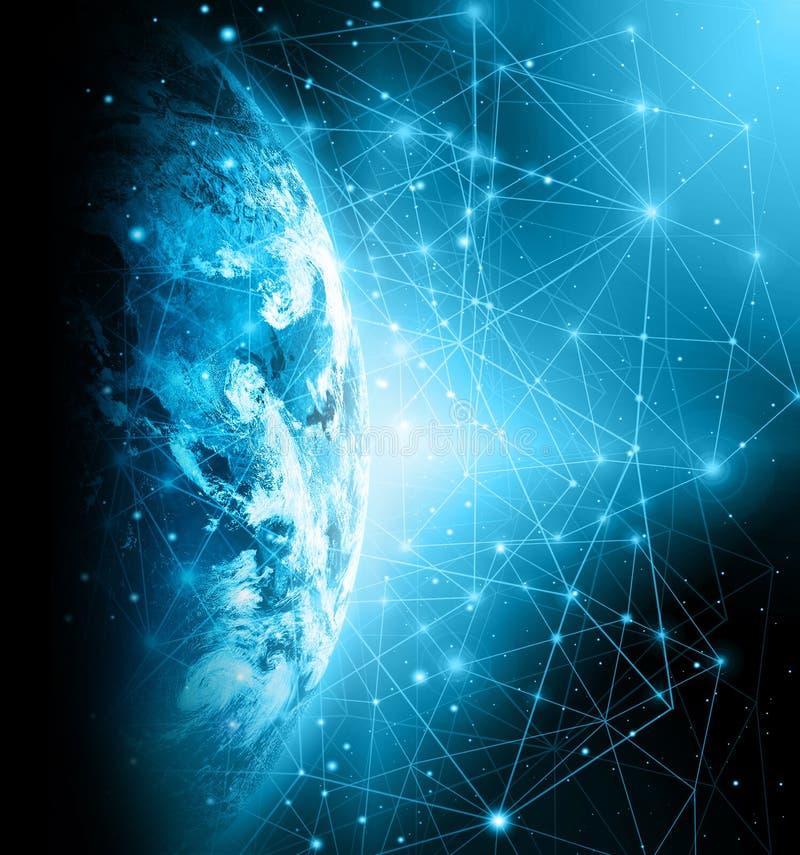 Het beste Concept van Internet globale zaken van conceptenreeks Elementen van dit die beeld door NASA wordt geleverd royalty-vrije stock foto