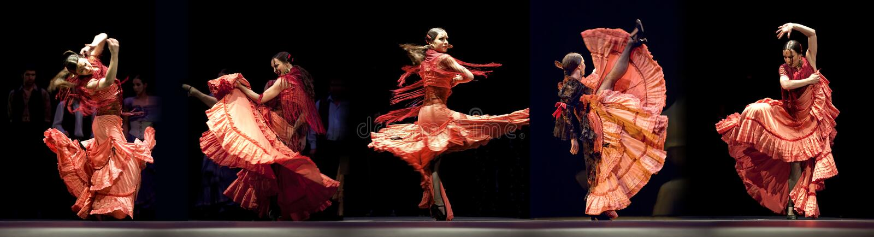 Het beste Drama van de Dans van het Flamenco: Trambestuurders royalty-vrije stock afbeelding