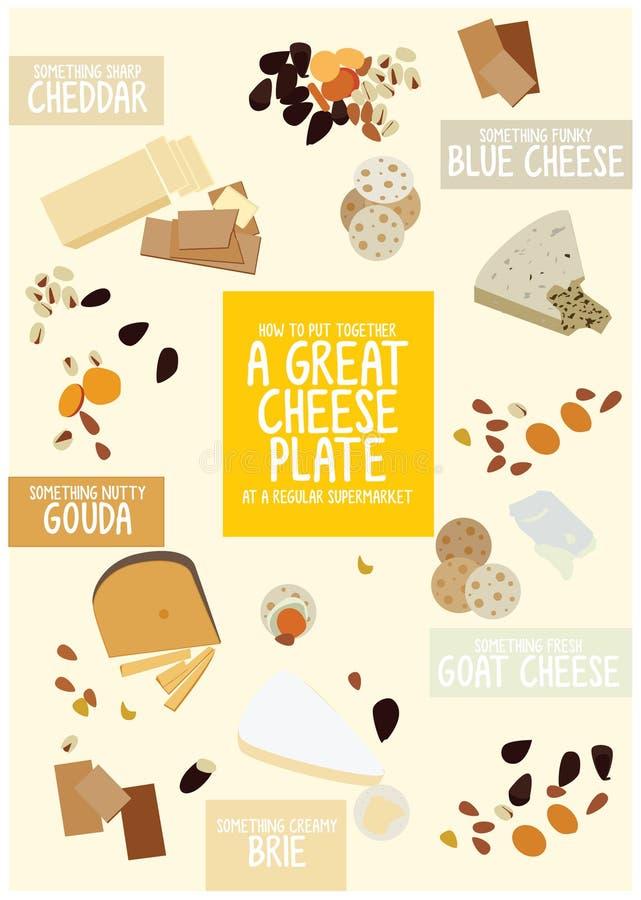 Het beste Kaas knippen stock illustratie
