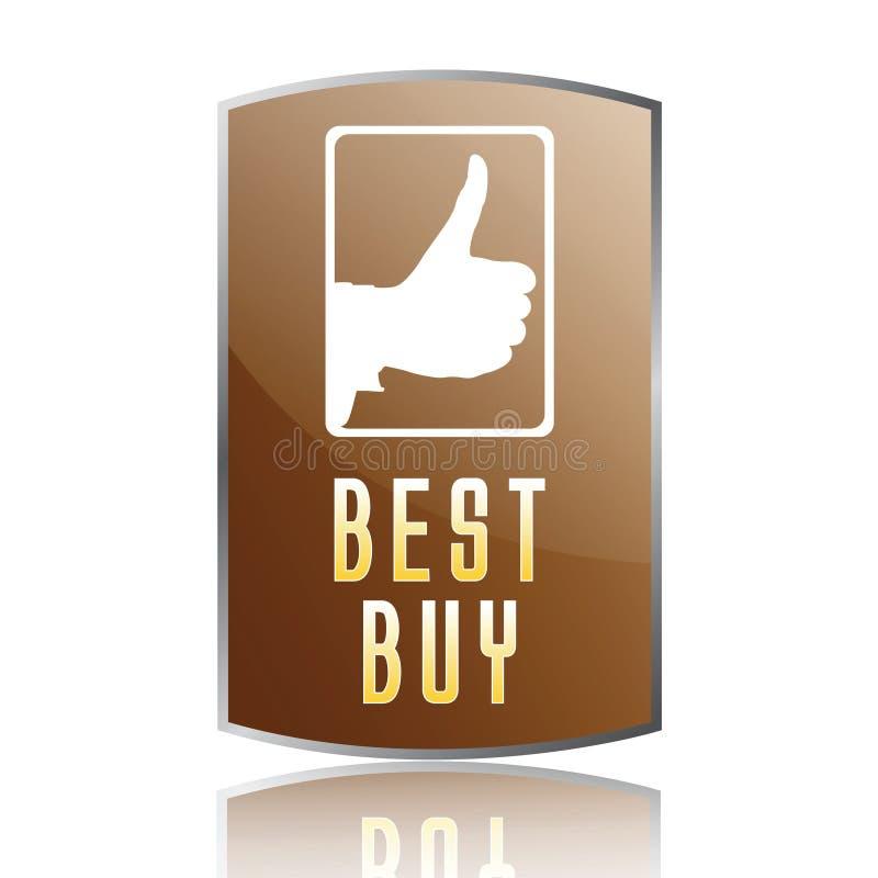 Het beste koopt etiket vector illustratie