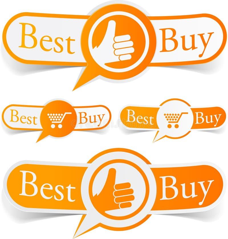 Het beste koopt oranje markeringen. royalty-vrije illustratie