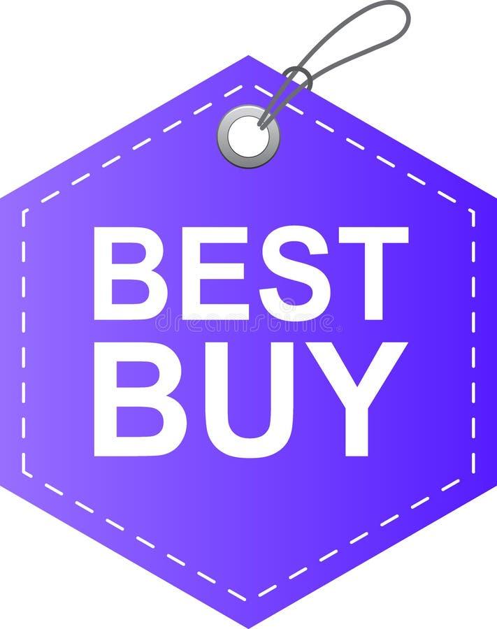 Het beste koopt het viooltje van het markeringsetiket royalty-vrije illustratie