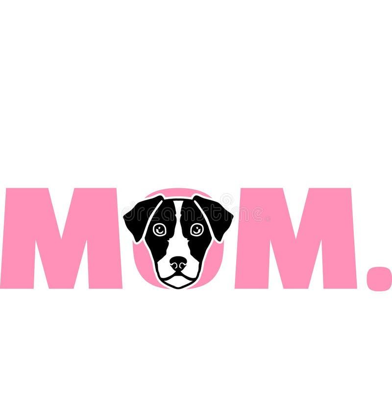Het beste Mamma van Jack Russell Terrier vector illustratie
