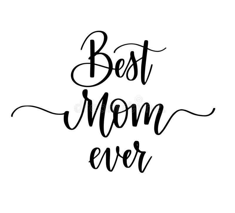 Het beste ontwerp van de Mamma ooit vectorkalligrafie Affiches, groetkaart, Moederdag royalty-vrije illustratie