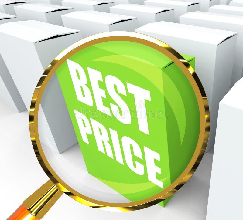 Het beste Prijspakket vertegenwoordigt Koopjes en Kortingen royalty-vrije illustratie