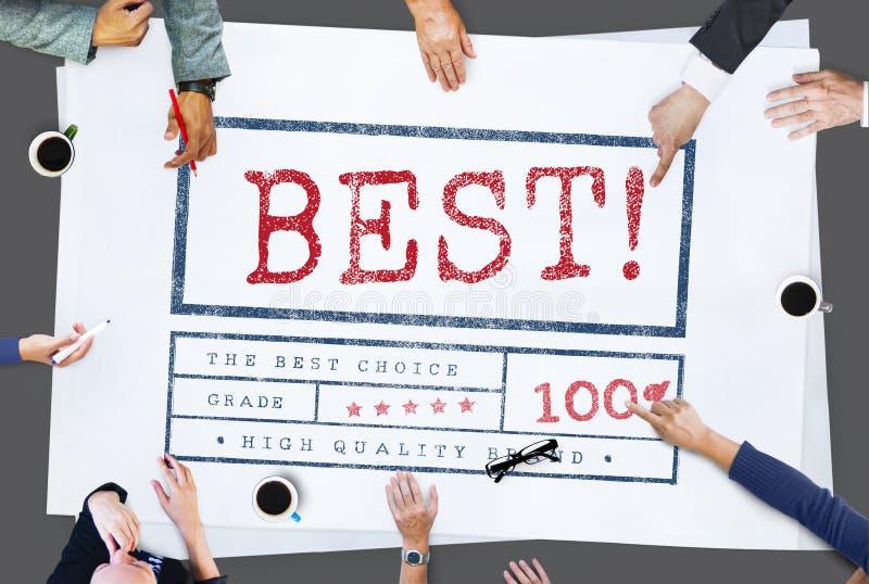 Het beste van het de Toekennings Fijnste Certificaat van de Keusverkoper Grafische Concept royalty-vrije stock foto