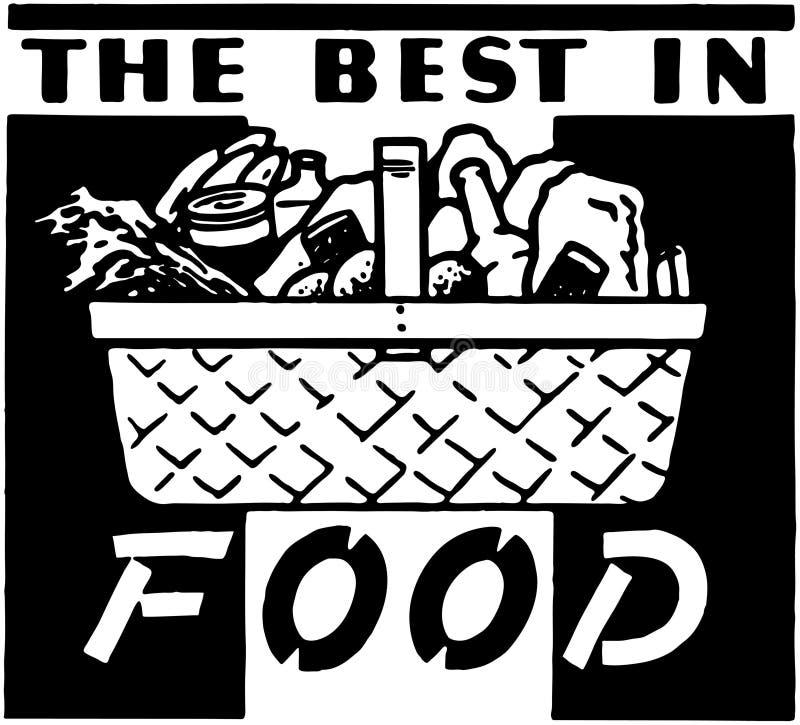 Het Beste in Voedsel royalty-vrije illustratie