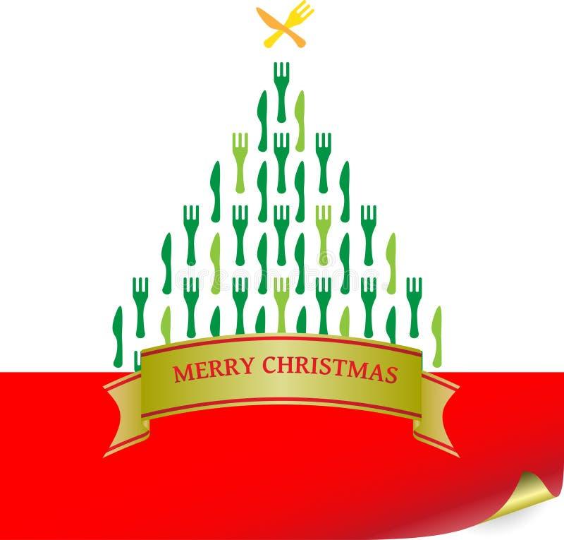 Het Bestek van de kerstboom royalty-vrije illustratie