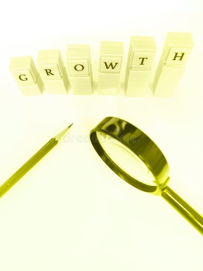 Het bestuderen over de groei stock fotografie