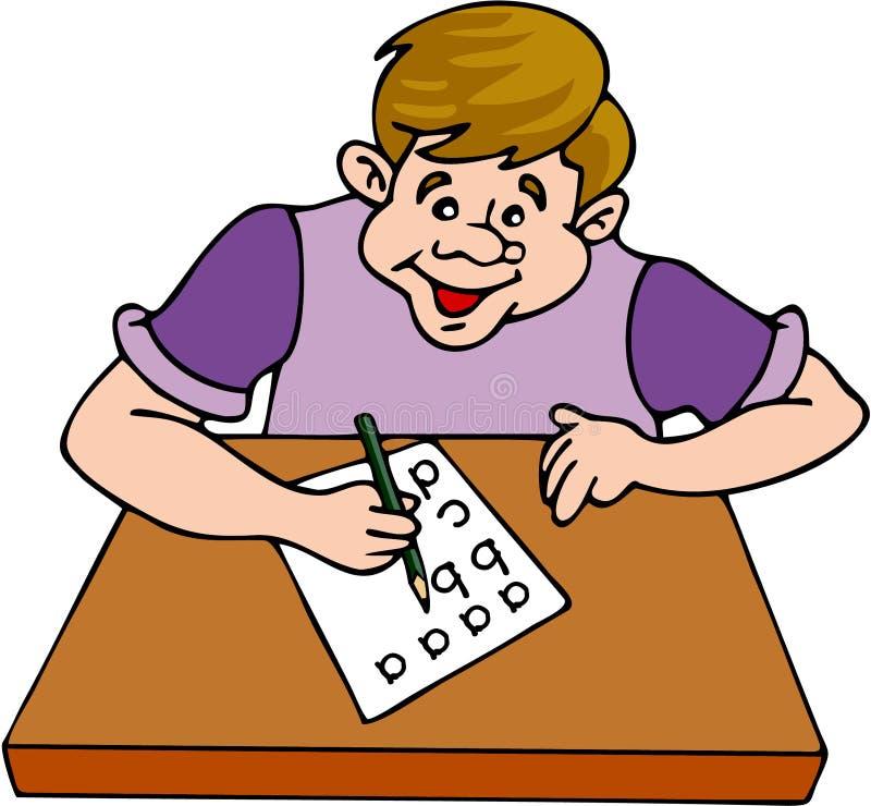 Het Bestuderen van de jongen vector illustratie