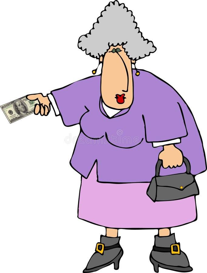 Het betalen met contant geld royalty-vrije illustratie