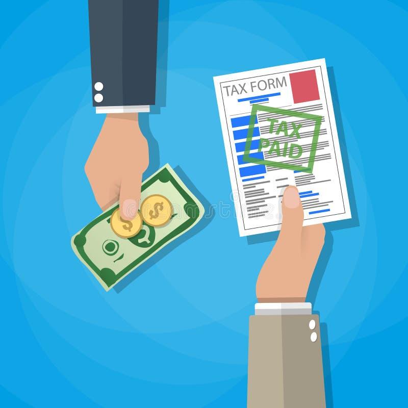 Het betalen van belastingsconcept stock illustratie