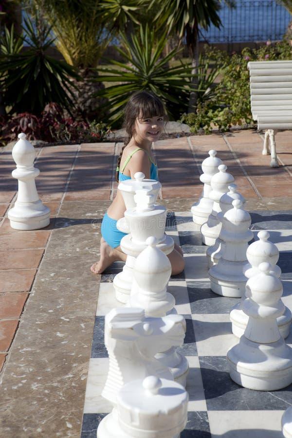 Het betalen van schaak stock foto