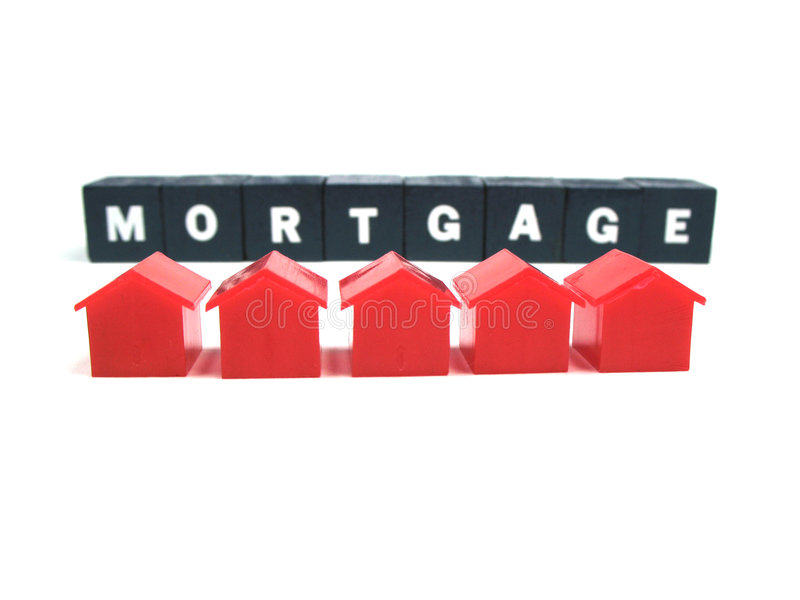 Het betalen van uw hypotheek stock afbeeldingen