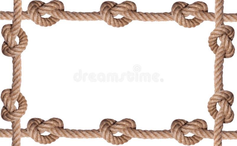 Het betegelde frame van de knoopkabel stock afbeeldingen