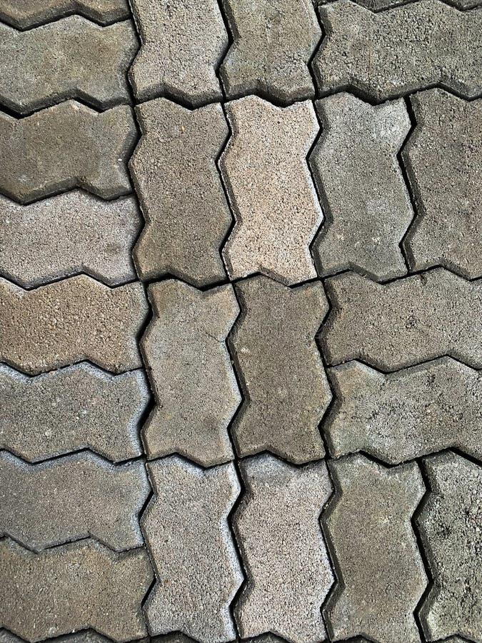 Het beton bedekt blokvloer stock afbeelding