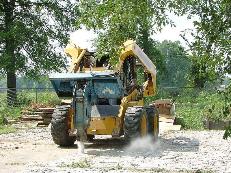 Het Beton van Busting. stock fotografie