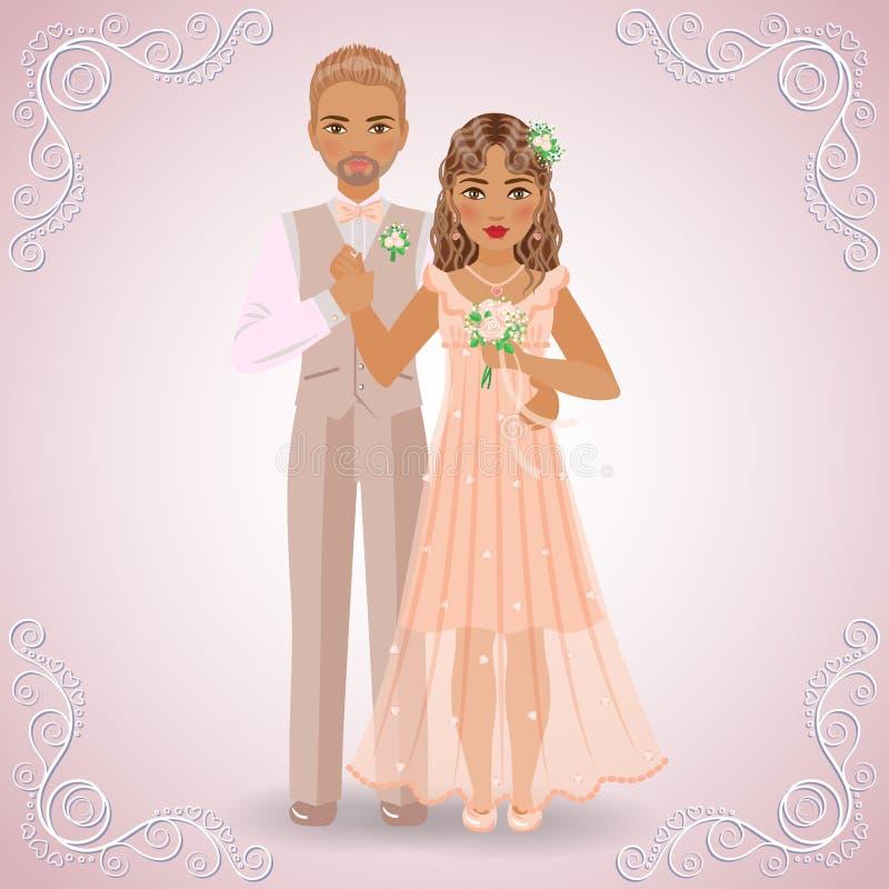 Het Betrothed-Paar royalty-vrije illustratie