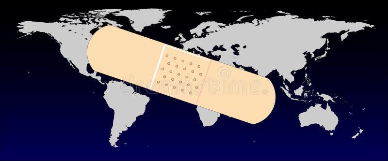 Het bevestigen van de Wereld royalty-vrije illustratie