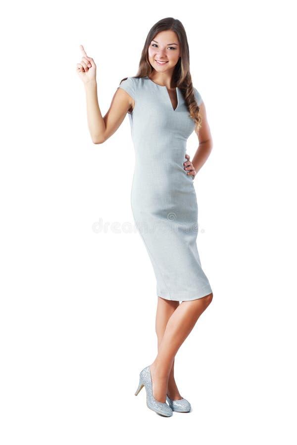 Het bevindende vrouw richten stock afbeelding