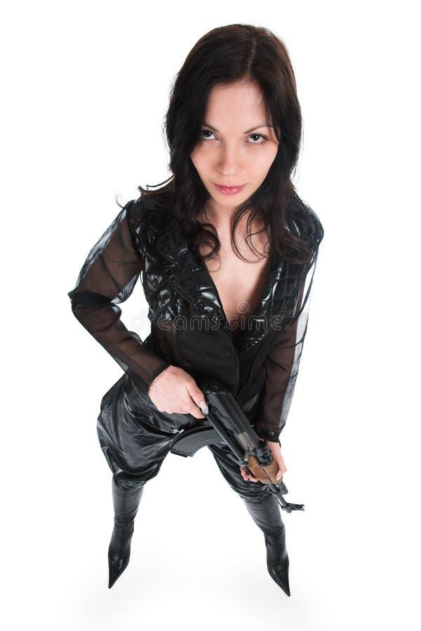 Het bewapende meisje royalty-vrije stock foto's
