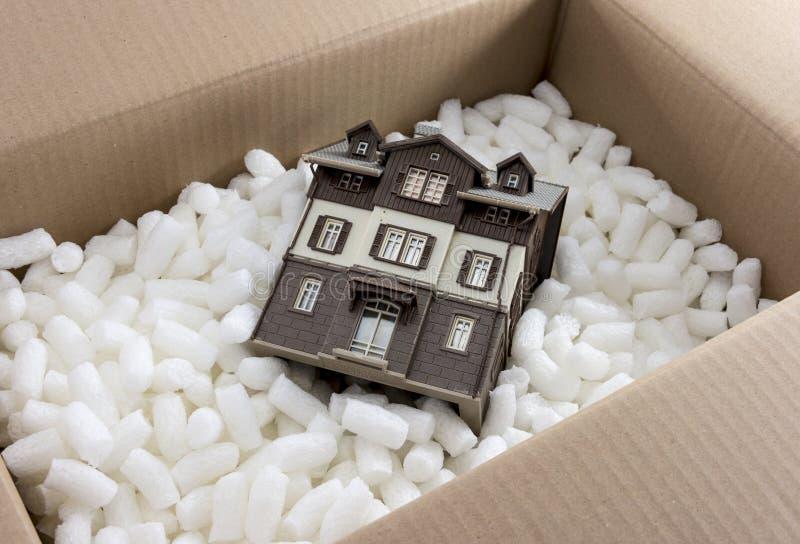 Het bewegen van het huis stock fotografie