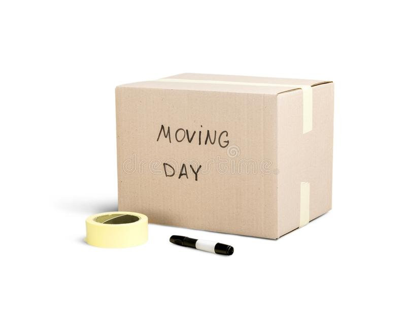 Het bewegen van huis stock foto's