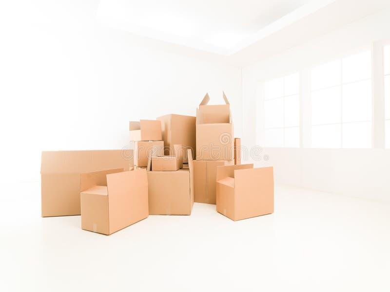 Het bewegen van huis stock afbeelding