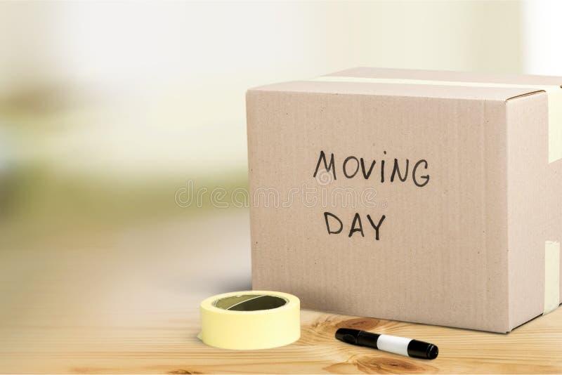 Het bewegen van huis stock fotografie