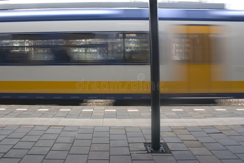 Het Bewegen zich van de trein royalty-vrije stock afbeelding